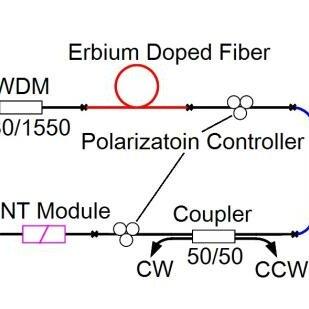 Bidirectional mode-locked fiber laser scheme. Fig.2. Pulse
