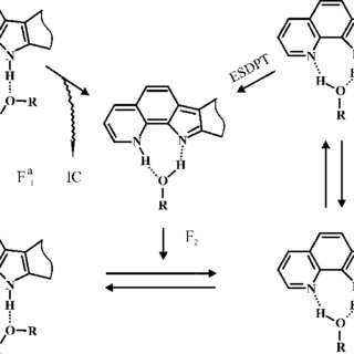 (a) Direct, intramolecular photoinduced proton-transfer