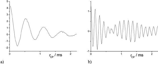 13 C interferograms representing the oscillatory