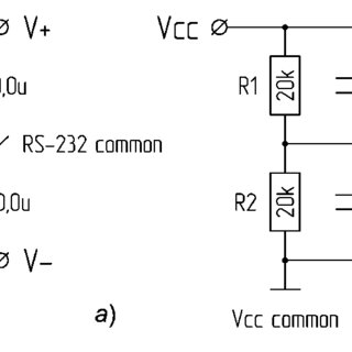 The passive (a) and active (b) split-rail power supply