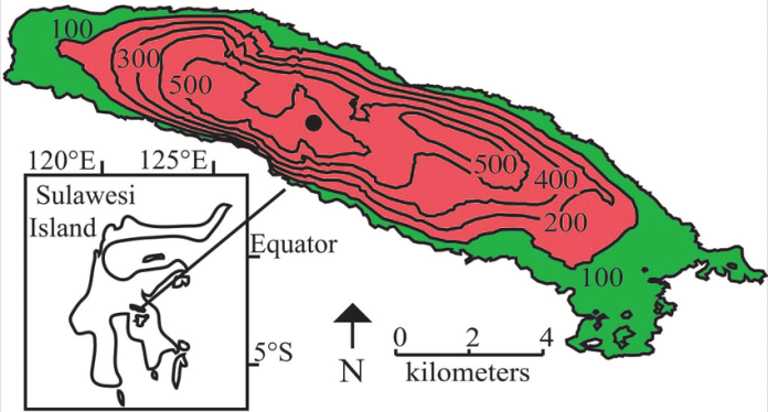 Map Showing The Location Of Lake Matano On Sulawesi Island Indonesia Download Scientific Diagram