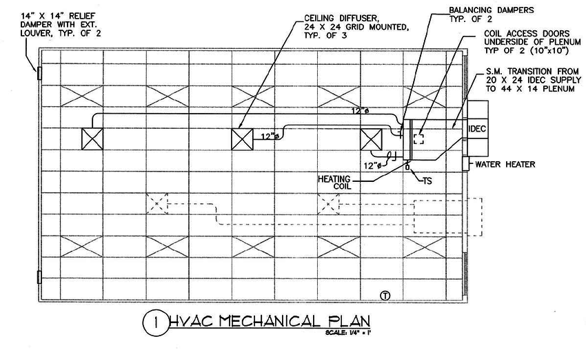 Figure A1. RC HVAC system working drawings plan view (see
