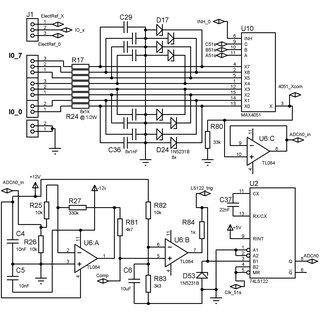 -Diagrama electrónico de un módulo de 8 salidas por
