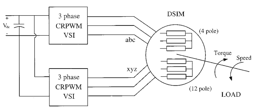 Dual stator winding induction machine drive (DSIM
