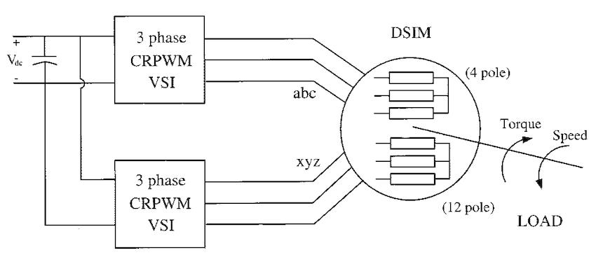 Dual stator winding induction machine drive (DSIM