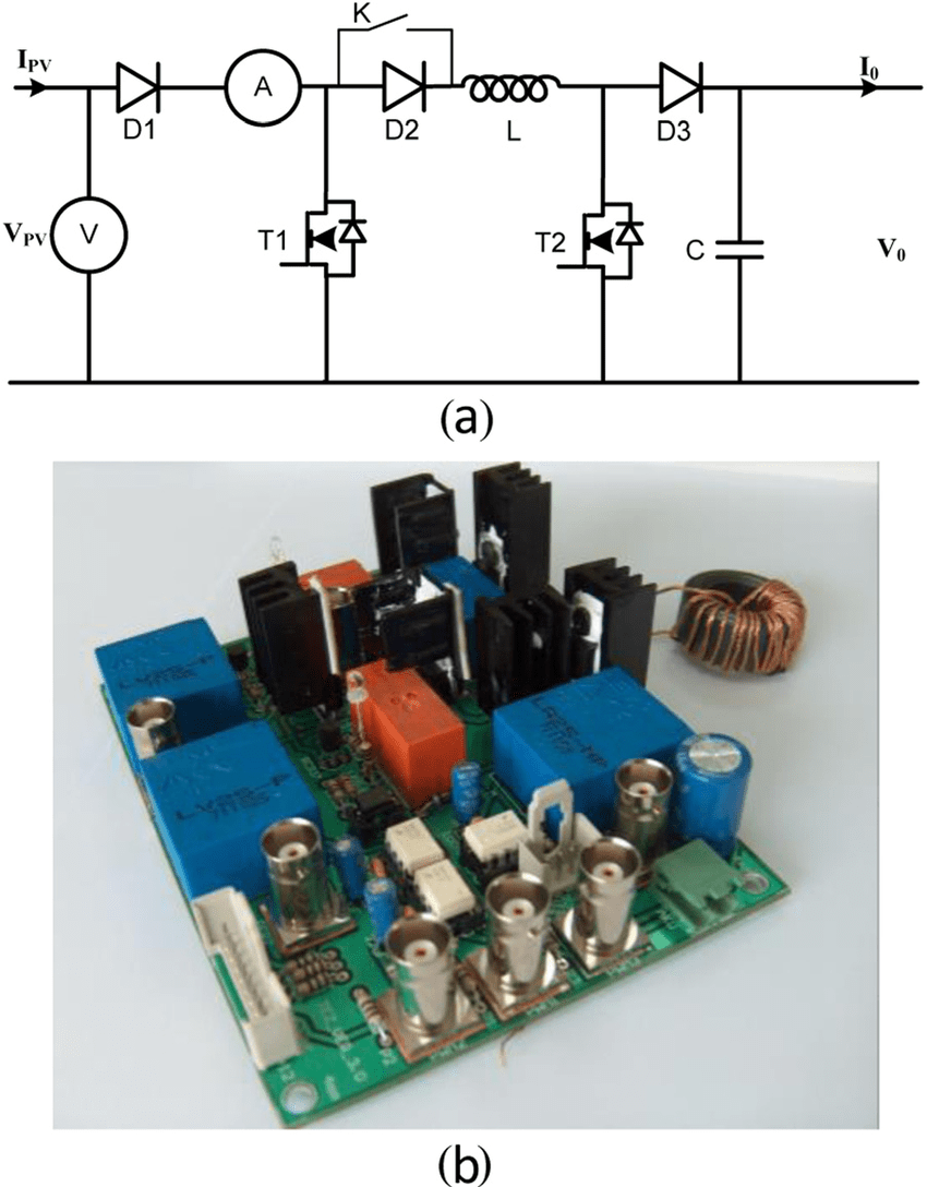 medium resolution of  a basic circuit diagram of mppt and b designed circuit board