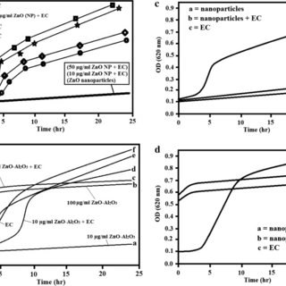 Growth curve of E. coli ATCC 25922: (a) in the presence of