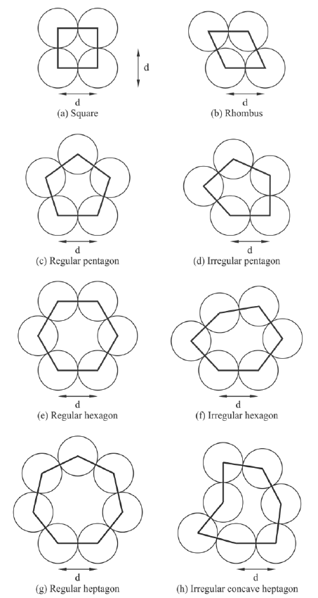 "Eight equilateral polygons created by "" surface sphere"