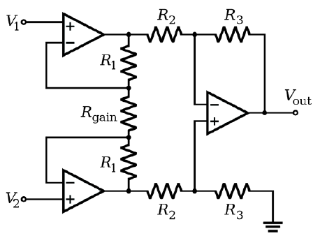 Classical differential amplifier implementation of an