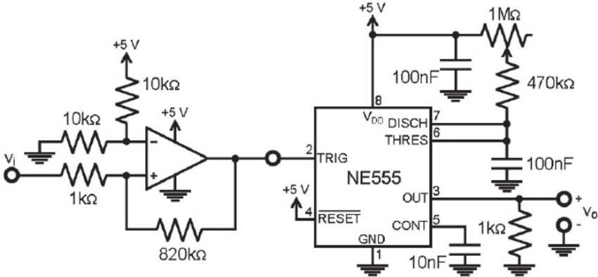 Circuit developed for the adaptation of the vibration