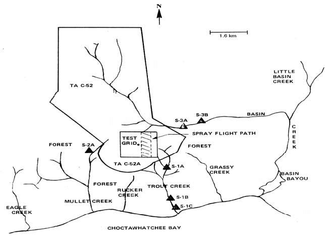 39 Map of Test Area C-52A and adjoining area of the Eglin