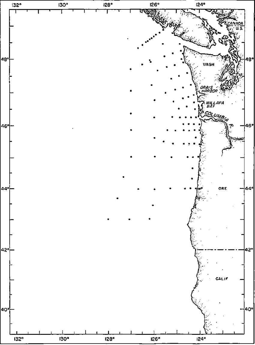 medium resolution of station locations for brown bear cruise 304 27 march 12 april 1962