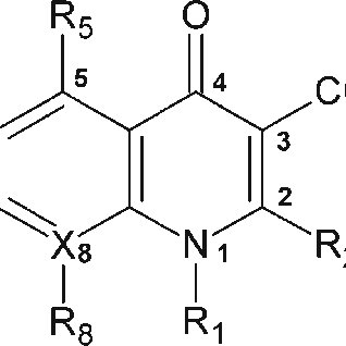 General structure of fluoroquinolones, using the accepted