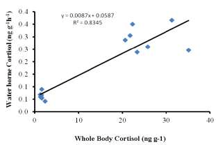 Significant positive linear relation between whole body