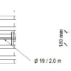 Section A-A of the newly-designed roof structure by CHwB