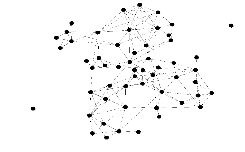 A network of a typical all-girl class. Node represent the