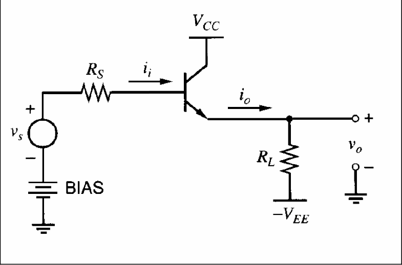 Emitter-follower circuit (common-collector configuration