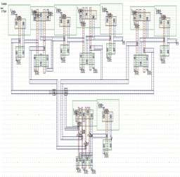 shows the full custom design layout using static CMOS