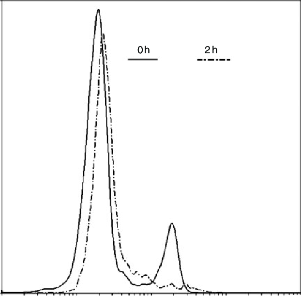 Sperm histone re-emplacement measured by CMA3. Dotted line