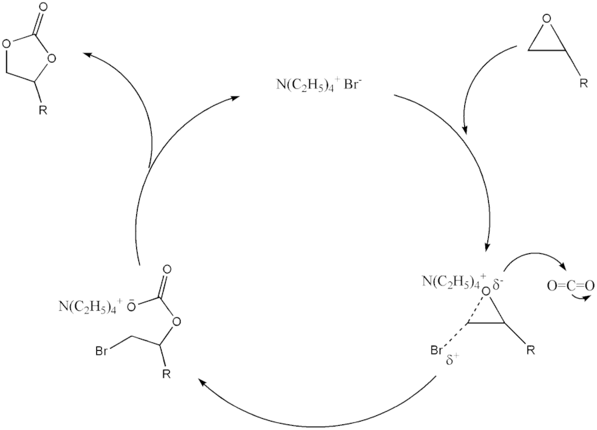 Scheme 7 Typical mechanism of cyclic carbonate formation