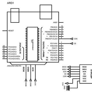 Circuit diagram of proposed Data Glove-transmitter