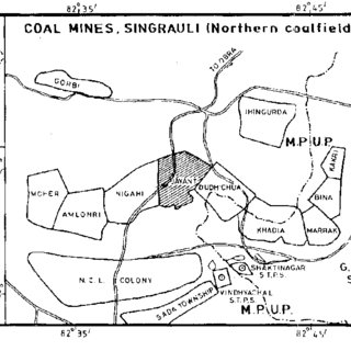 Location of coal mines and thermal power stations in the