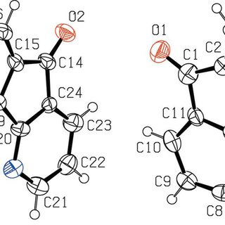 Projection of a layer in the crystal structure of (I