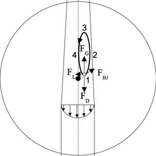 Experimental setup: (1) test section; (2) piezo elements