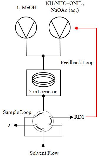 Figure S2: Reactor setup for carvone optimisation using