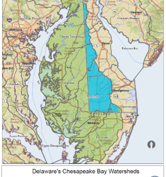 delaware portion of the chesapeake bay watershed [ 850 x 1101 Pixel ]