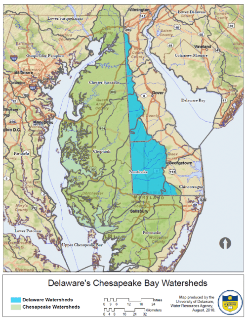 small resolution of delaware portion of the chesapeake bay watershed