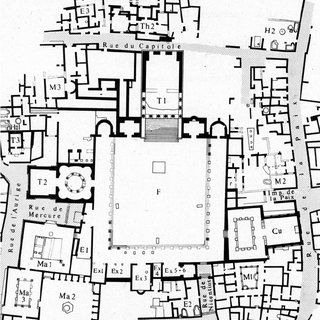 Timgad: plan of the city, showing the location of the