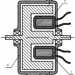 Design version of the stator of a 6-phase flat type AC