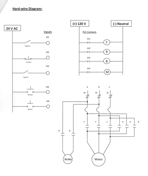 small resolution of hard wired plc control diagram