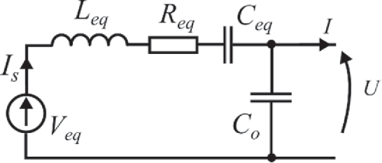 Fully electrical model of a piezoelectric cantilever