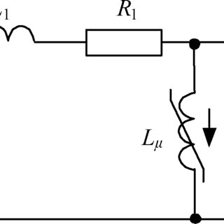 Single-phase unloaded transformer equivalent circuit