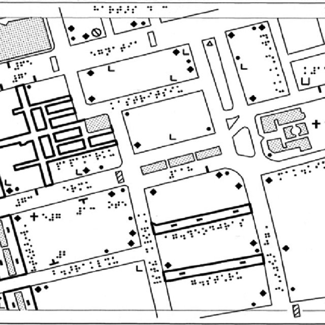 Access map of University of Cambridge (Sidgwick site