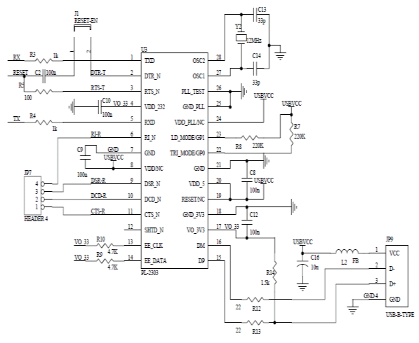 ATmega328 schematic circuit [1]. The ATmega328 is a