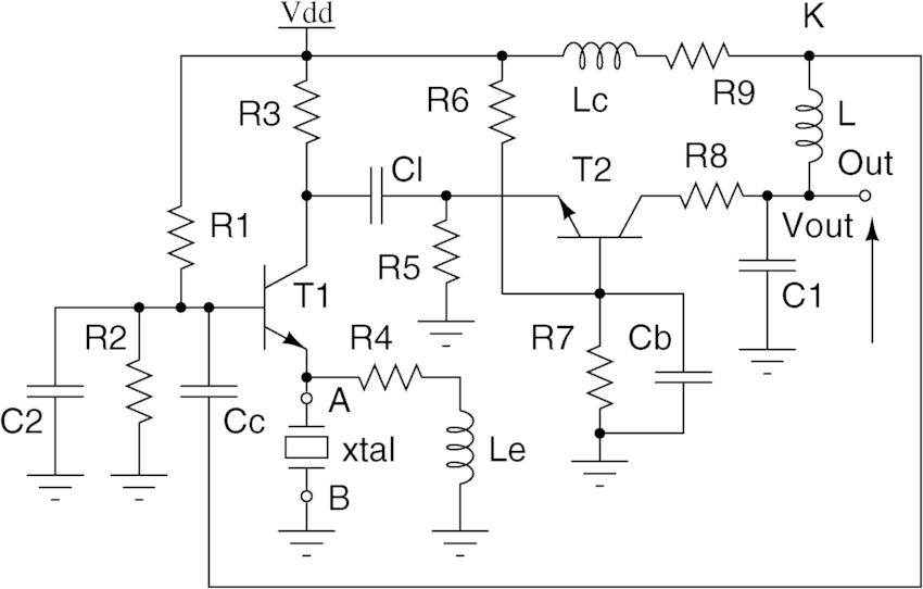 Schematic of the Driscoll oscillator (DRISCOLL) [23], [24