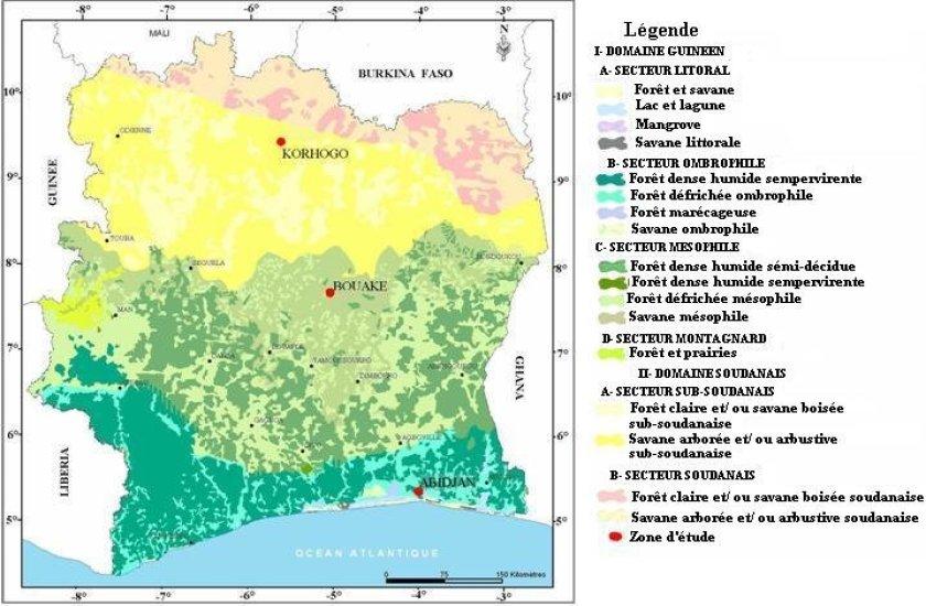 """Résultat de recherche d'images pour """"carte mangrove cote divoire"""""""