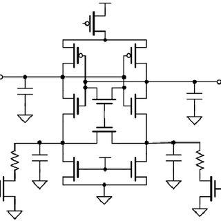Schematic circuit diagram of Current latch type sense