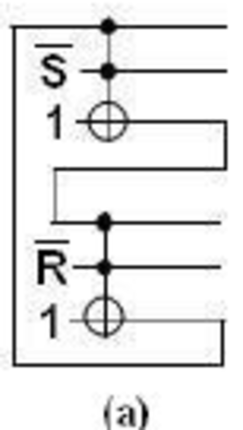 hight resolution of circuits of a rice sr latch and b rice sr latch with