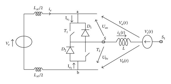 (a) The PWM switch, (b) the equivalent circuit of the PWM