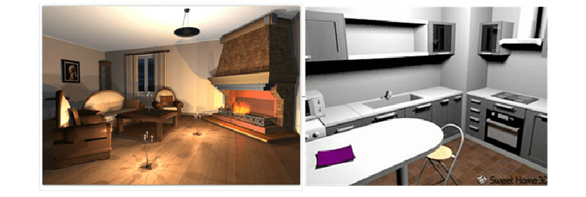 Figure 1 Examples Of Virtual Home Environments Lounge Left