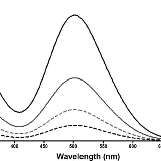UV e Vis absorption spectra of standard solution of