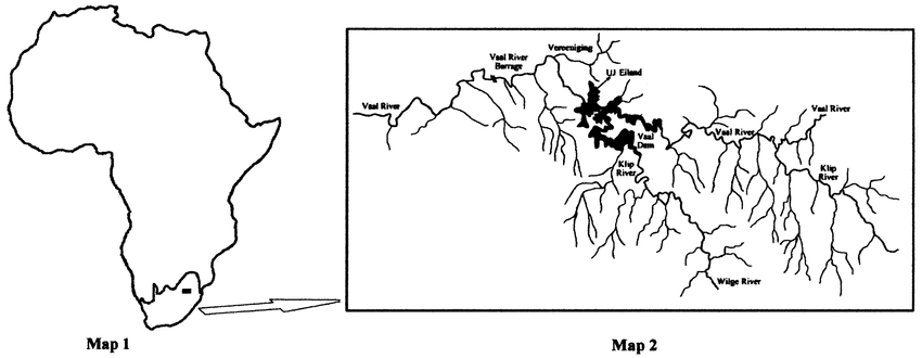 A diagram depicting the location of the study site. Map 1