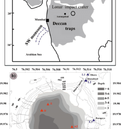 1 a location of lonar impact crater on the 65 ma old deccan trap download scientific diagram [ 850 x 1514 Pixel ]