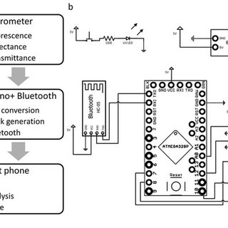 Schematic of the different components of the smartphone