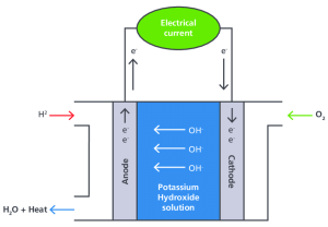 3 Basic fuel cell diagram for an AFC | Download