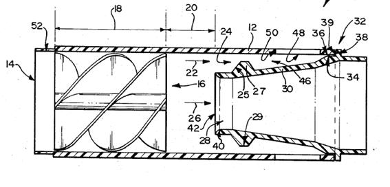 Vortex tube separator according to US Patent 4,985,058 [11